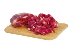 The whole piece and sliced mutton Royalty Free Stock Photo
