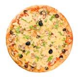 Whole pizza Stock Image