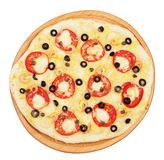 Whole pizza Royalty Free Stock Image