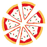 Pizza slices vector Royalty Free Stock Images