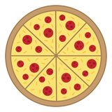 Whole pizza vector illustration Stock Photography