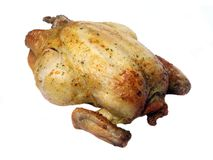 Whole plain roasted chicken Stock Photography