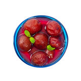 Whole Plums In Syrup Stock Photography