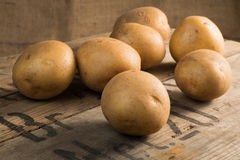 Whole potatoes Stock Photo