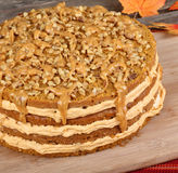 Whole Pumpkin Cake Stock Images