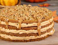 Whole Pumpkin Cake Royalty Free Stock Photography