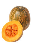 Whole pumpkin and a half Royalty Free Stock Photo