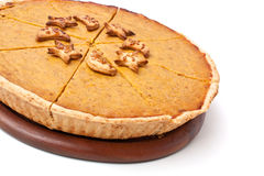 Whole Pumpkin pie Royalty Free Stock Photography