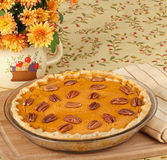 Whole Pumpkin Pie Royalty Free Stock Image