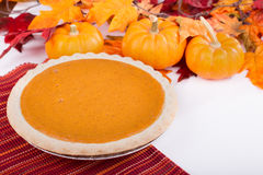 Whole Pumpkin Pie Royalty Free Stock Images
