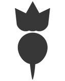 Whole radish icon silhouette Stock Photography