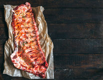 Whole raw beef ribs Stock Photo