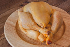 Whole raw chicken Royalty Free Stock Image