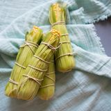 Raw corn prepared for baking royalty free stock photography