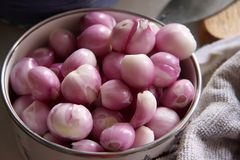 Whole raw onions Royalty Free Stock Images