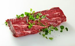 Whole raw trimmed tender fillet steak royalty free stock photography