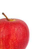Whole red apple Stock Images