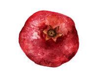 Whole red pomegranate Royalty Free Stock Image