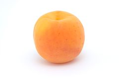 Whole ripe apricot Stock Photos