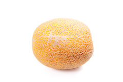 Whole honeydew melon tropical fruit isolated on a white backgrou Royalty Free Stock Image