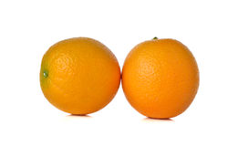 Whole ripe orange on white Stock Photo