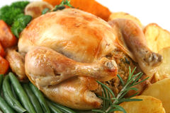 Whole Roast Chicken Stock Photos