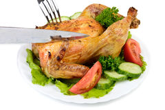 Whole Roast Chicken Royalty Free Stock Images