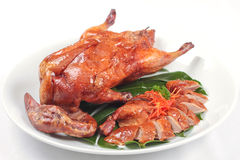 Whole roast duck Stock Photography