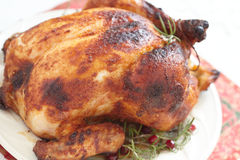 Whole Roasted Chicken Royalty Free Stock Photo