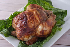 Whole roasted chicken Royalty Free Stock Image