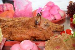 Whole Roasted Pig Royalty Free Stock Image