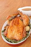Whole Roasted Stuffed Turkey royalty free stock photography
