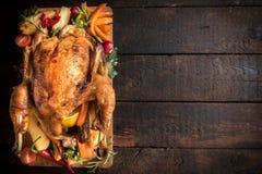 Whole roasted turkey Stock Photo