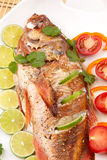 Whole Roasted Wild Rockfish Stock Photos