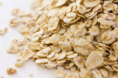 Whole rolled oats Stock Photo