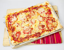 Whole Sicilian pizza high angle Stock Photography