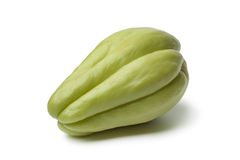 Whole single fresh chayote Stock Photos