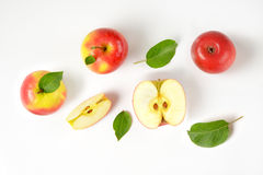 Whole and sliced apples Royalty Free Stock Photography