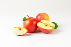 Whole and sliced apples Stock Photo