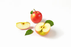 Whole and sliced apples Stock Photography