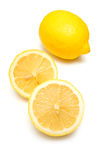 Whole and sliced lemons Stock Photography