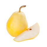 Whole and sliced pears Royalty Free Stock Images