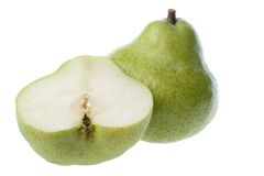 Whole and sliced ripe pears Stock Photography