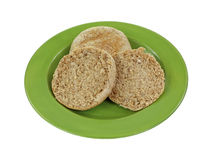 Whole Grain English Muffins Stock Image