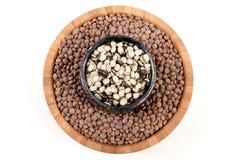 Whole and split lentil Stock Images