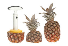 Whole and split pineapple Royalty Free Stock Photography