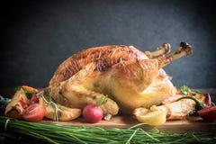 Whole split roasted turkey Royalty Free Stock Photo