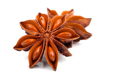 Whole Star Anise Stock Images