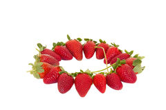 Whole strawberries in circle Stock Photography