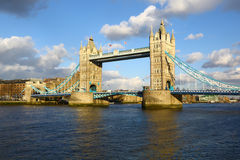 Whole Tower bridge in full sun, London Royalty Free Stock Photos